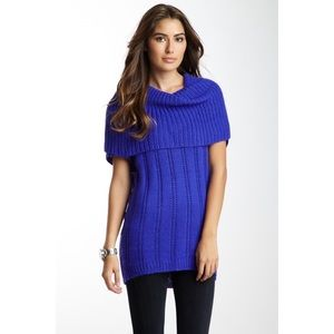 Ella Moss | Short Sleeve Raglan Cowl Neck Sweater
